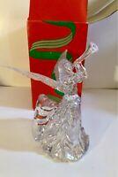 "Vintage Silvestri Acrylic Crystal Like Angel Tree Topper Christmas 8"" Tall"