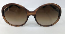 BVLGARI 8140-B COLOR 5240-13 STRIPED BROWN PLASTIC SUNGLASSES MINOR SCRATCH LENS