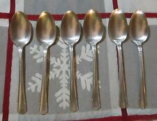 Wm Roger MFG IS Silverplate 6 teaspoons Chatham 1935 Art DEco hard to find