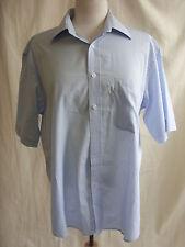 "Mens Shirt - Pierre Cardin, 16""/41cm, blue, cotton, summer, shortsleeve - 8055"