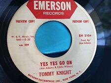 Hear Rare R&B Soul 45 : Tommy Knight ~ Ha Ha Ha And Oh Oh Oh ~ Emerson EM 2104