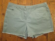 Ladies Khaki Jeans - Style Summer Shorts / Hot Pants - size 14