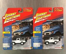 JOHNNY LIGHTNING 1980 TOYOTA LAND CRUISER (LOT OF 2) HOBBY EXCLUSIVE WHITE T12.