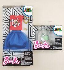 Barbie Super Mario Bros Barbie Doll Fashion Pack Shirt Skirt Lot Nintendo Yoshi