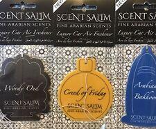 3 × Perfume scented car Air Freshener, NEW Arabic attar Scent Salim