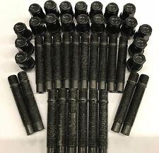 20 X M12X1.25 ALLOY WHEEL STUDS + NUT CONVERSION BLACK 68mm FITS ALFA ROMEO 58.1