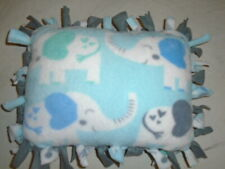 Blue Baby Elephant Hearts Baby Shower Tied Double Side Fleece Pillow~New