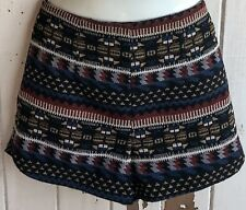 DOTTI high waisted shorts AZTEC Embroidery Vintage Sz 10 hotpants BOHO