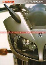 YAMAHA FZS 1000 Fazer - 2002 : Brochure - Dépliant - Moto #0620#