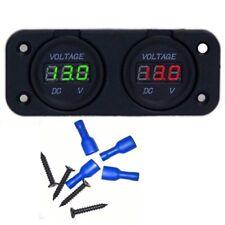 Dual Battery Monitor Digital Volt Meter LED 12v 24v volt for VSR DC Isolator R&G