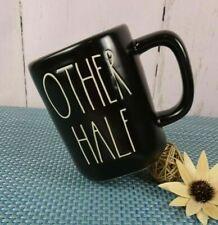 "New ListingNew Rae Dunn ""Other Half"" Coffee Tea Mug Black Ceramic Bridal Couple Farmhouse"