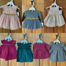 Lot of 7 New Carter's Newborn Girls Dresses with Diaper Covers ~ Fall ~ Holiday