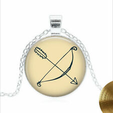 Bow and Arrow Tibet silver Glass dome Necklace chain Pendant Wholesale