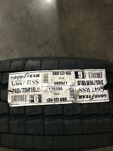 1 New 245 70 19.5 LRG 14 Ply Goodyear G647 RSS Commercial Tire