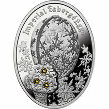 Winter Egg Imperial Faberge Eggs Proof Silver Coin 1$ Niue 2012