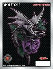 Dragon Beauty Rose Car Sticker - Auto Decal - Anne Stokes