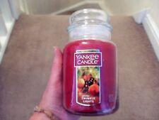 "YANKEE Candle Giara grande-Twinkle Lights ""USA Esclusivo-DEERFIELD etichetta VHTF -"