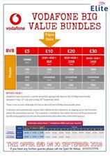 Vodafone PAYG Sim Card - Precut 3 in 1 Sim Standard Micro Nano - Brand New
