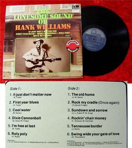 LP Hank Williams The Lonesome Sound of Hank Williams