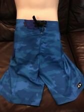 New Oakley Men's Camo Boardshorts Camp Pacific Blue 30 Surf Swim Bathing Suit