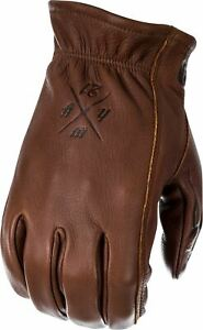 Highway 21 Louie Gloves Men's Adult Motorcycle Leather Street / New - Open Box