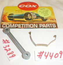 Knock Off Wrench + Motor Clip Group COX (2) items 1960's Original Slot Car NOS
