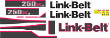 Link-Belt 250x3 Decal Kit. The most complete aftermarket kit available