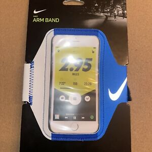New Nike Lean Running Phone Arm Band blue/gray Unisex Fits Most Smartphone
