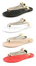 Sandali e scarpe gladiatori senza marca piatto (meno di 1,3 cm) per il mare da donna