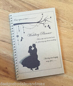 A5 Wedding Planner VINTAGE Cinderella Inspired Brides Note Book Journal Book