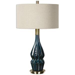 Uttermost Prussian Blue Ceramic Lamp - 27081-1