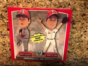 Homer Bailey Cincinnati Reds Dual Bobblehead -NIB