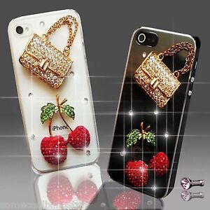 NEW DIAMANTE HANDBAG DIAMOND MOBILE CASE COVER SAMSUNG iPHONE SONY HTC 4 5 S6 S5