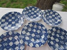 """set of 6 Tabletrendz  by Sakura BLUE SHADOW 8 1/4 """"  Salad or Lunch  Plates"""