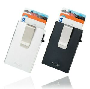 PURS Slim Kartenetui mit Geldklammer und RFID-Schutz Geldbörse NFC-Blocker