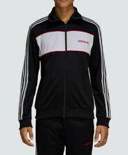 LG adidas Originals MEN'S Slim Fit LINEAR TRACKSUIT Jacket & Pants  BLACK  LAST1