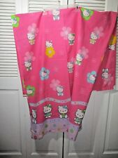 2003 Hello Kitty Sanrio Pink Graphic Print 12-Hook Fabric Shower Curtain Euc