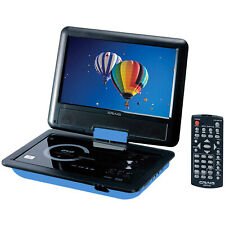 "Craig Ctft713 180° Swivel Screen 9"" Portable Dvd Player w/ Sd Card Slot - Blue"