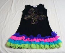 The Princess And The Prince Butterfly Sparkly Ruffles Size 6 7 Dress Bling