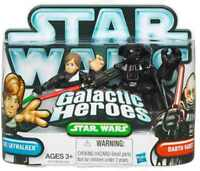 STAR WARS Galactic Heroes Luke SkyWalker & Darth Vader action figures