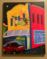 New Orleans style Street Art Painting 16x20 Canvas