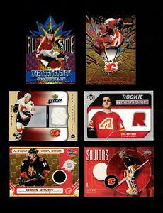 Calgary Flames Lot of (26) Different Modern Inserts! Jerseys! Bure! Iginla!