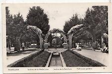 BF32894 pamplona jardines de la media luna spain  front/back image