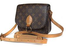 Auth LOUIS VUITTON Saint Cloud MM Monogram Canvas Leather Shoulder Bag LS0982