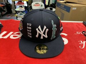 New Era 59fifty New York Yankees Fitted Cap Special Patches Size 7 3/4 Rare