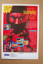 Shinobi Arcade Flyer Video Game promotional poster