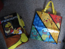 Pokemon Nintendo Northwest Company Pikachu 46 x 60 Blanket @Tote Bag Both New 2