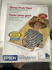 """Epson Glossy Photo Paper 8.5"""" x 11"""" I20 Sheet package S041141-120"""
