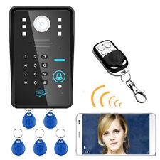 Wireless WIFI RFID Password Video Door Phone Doorbell Intercom System IR Night