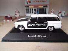 PEUGEOT 404 Break police brigade fluviale1966 1/43ème NEUVE
